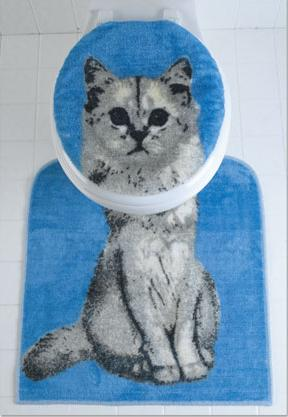 Cat toilet seat cover